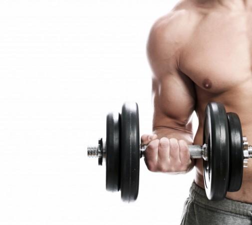 Exercice avec des haltères pour les bras