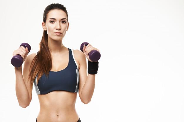 Exercice haltères bras